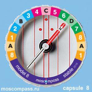 Колба Московский компас модель 8 Радуга